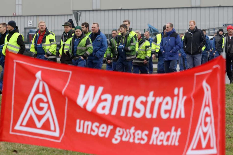 In Stuttgart werden am Mittwochvormittag unter anderem die nahmhafte Unternehmen wie Stihl, Lapp oder Bizerba mit 24-Stunden-Warnstreikgs beginnen.