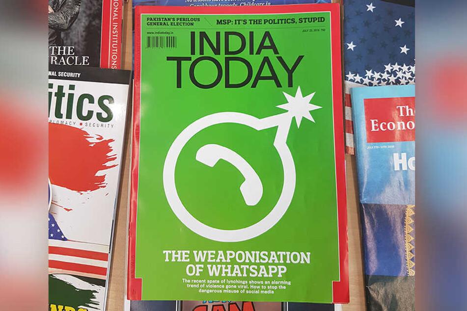 WhatsApp als Waffe: So titelte eine indische Zeitschrift im Juli dieses Jahres.