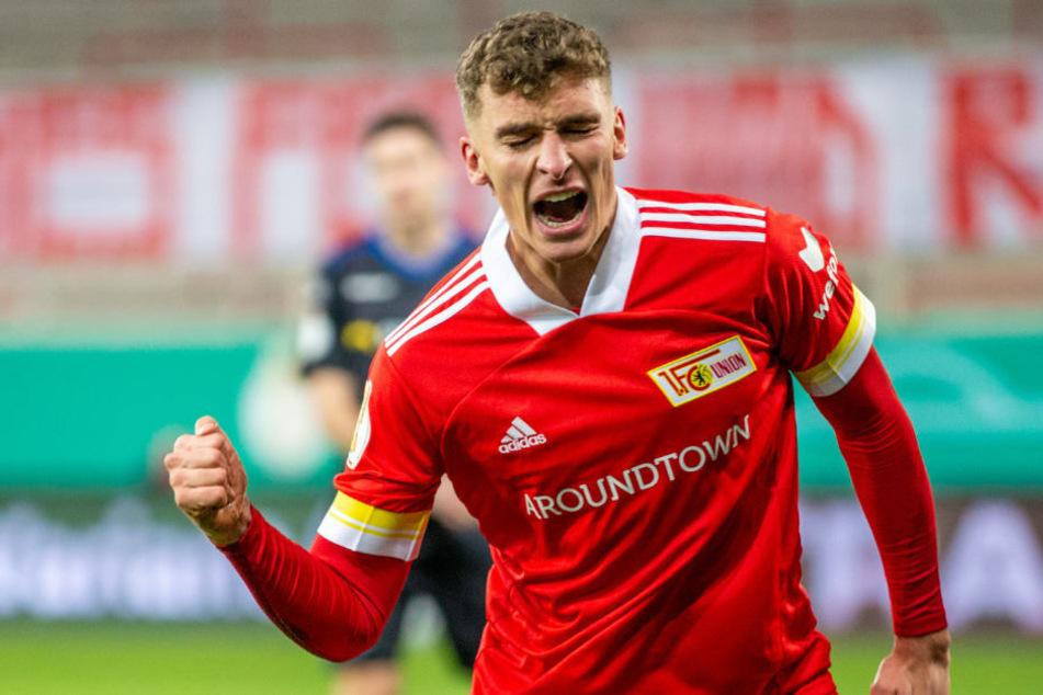 Unions Grischa Prömel bejubelt seinen Treffer zum zwischenzeitlichen 1:1.