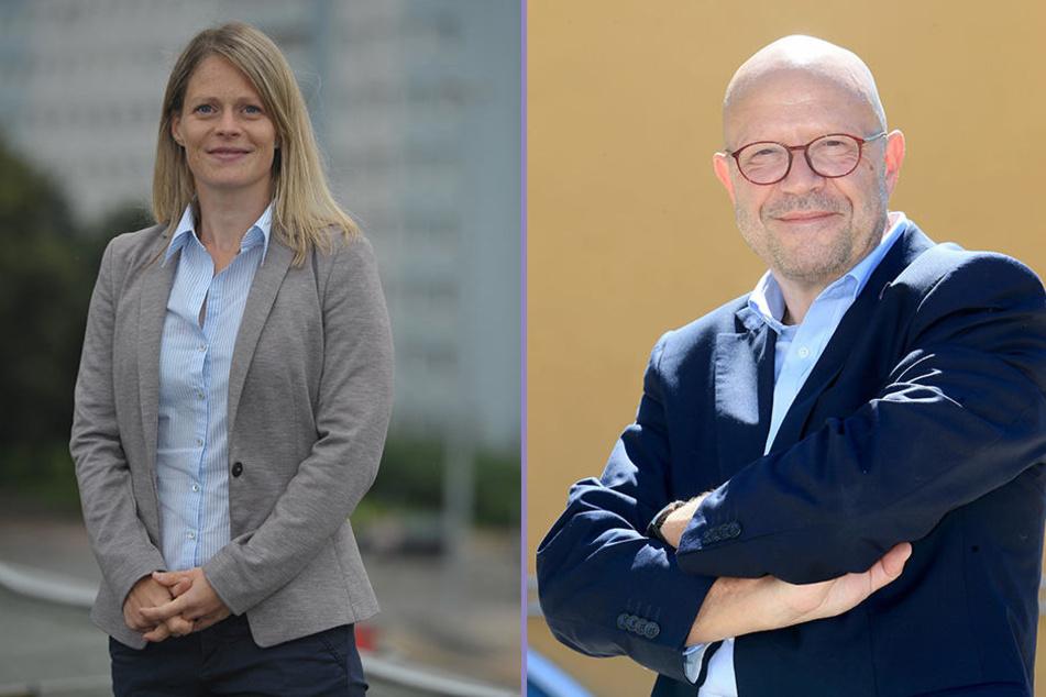 Kulturbotschafter Stefan Tschök (60) will nach Pilsen reisen. Bei der CWE sucht Marketingleiterin Susan Endler (37, l.) nach kreativen Ideen.