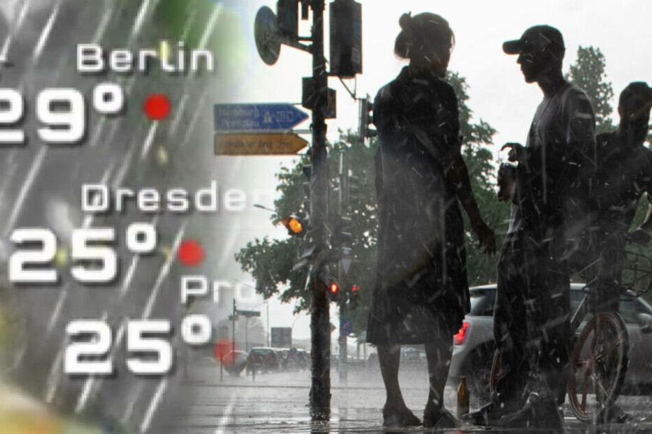 Die Unwetterfront erreicht auch Berlin.