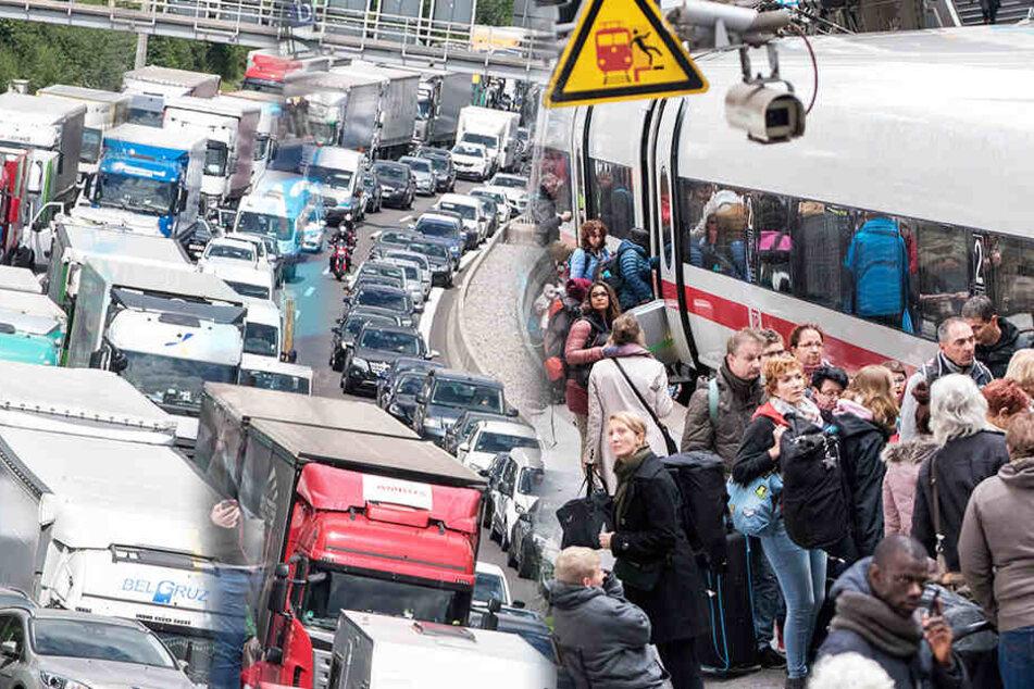Himmelfahrt: Autobahnen dicht, überfüllte Züge, volle Busse: Versinkt Deutschland morgen im Chaos?