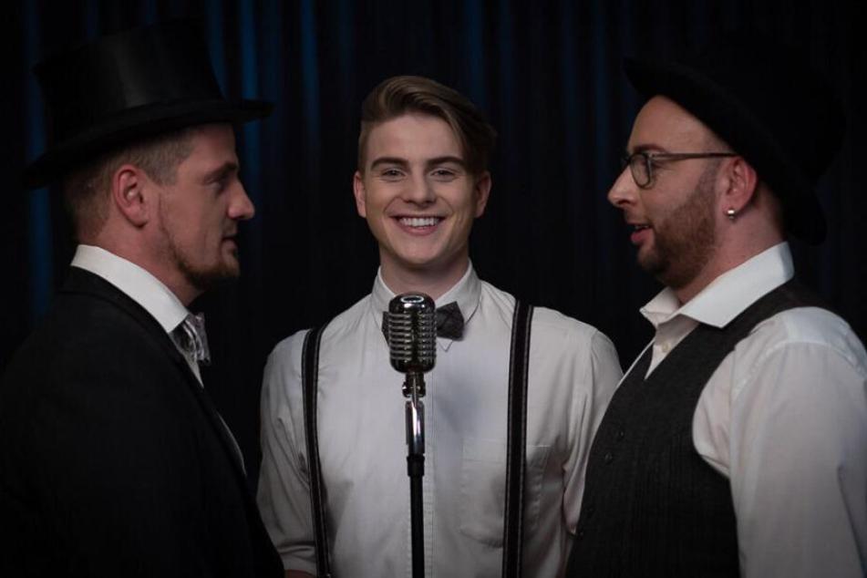 """Ric Einenkel (40, v.l.), Vincent Gross (22) und Sebastian Seidel (36) machen jetzt gemeinsame Sache: Am Freitag erscheint ihre Single """"Nicht allein sein""""."""