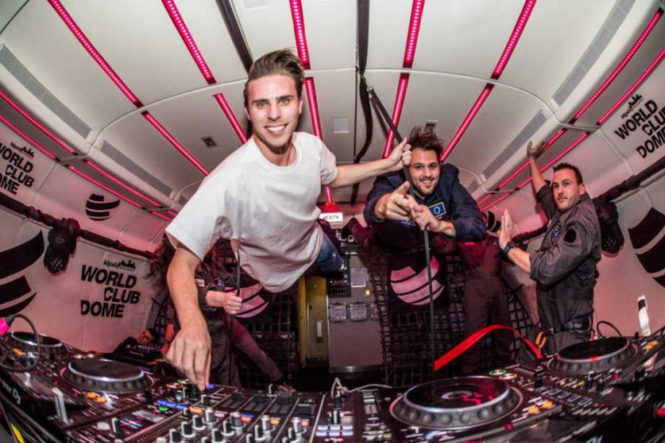 Auch das niederländische DJ-Duo W&W war bei der Schwerelos-Party mit am Start.