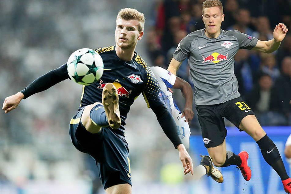 RB Leipzigs Timo Werner (21) und Marcel Halstenberg (26) sind für den Kader des Nationalteams aufgestellt.