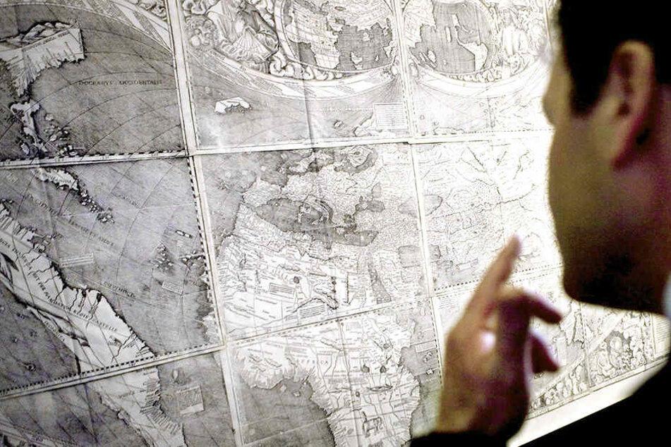 Beim Auktionshaus Cristie's wurde eine Karte von Amerika ersteigert, die wohl nur eine Kopie ist.