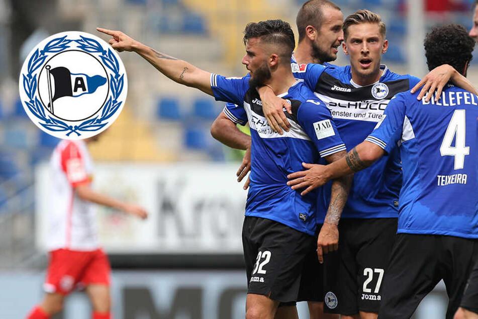Glückstreffer in der Nachspielzeit: Arminia siegt 2:1 gegen Regensburg