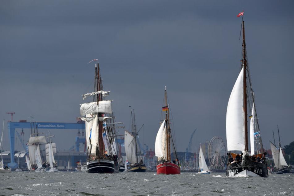 Die Windjammer-Parade ist einer der Höhepunkte der Kieler Woche.