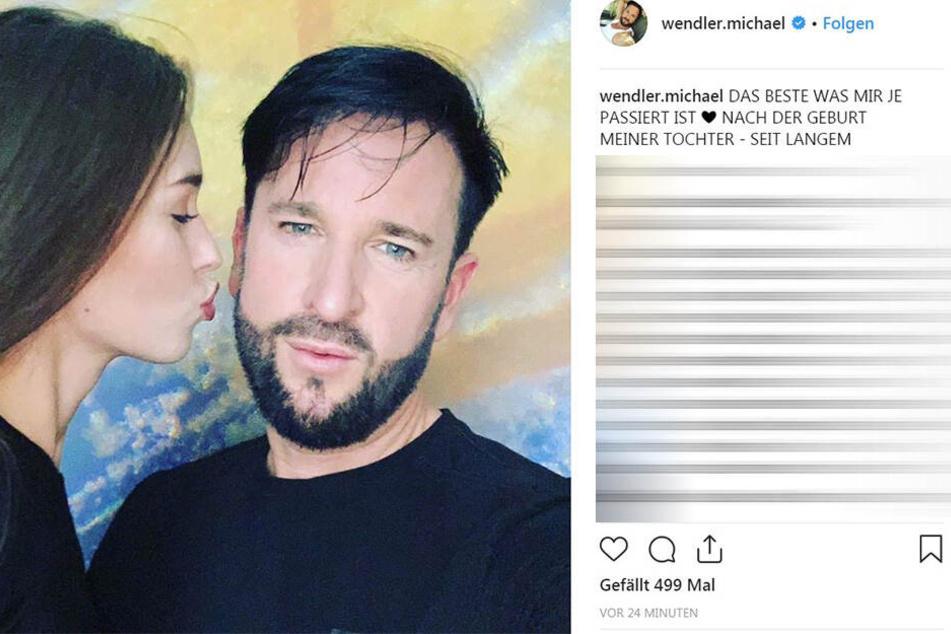 Michael Wendler (46) setzt nahezu zeitgleich ein Posting mit demselben Foto ab - hat aber wohl vorher noch an den Farben geschraubt.