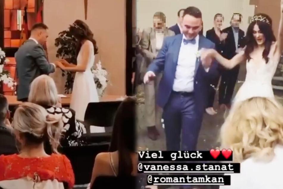Vanessa Stanat teilte zahlreiche Instagram-Storys, welche ihre Hochzeit mit Roman Tamkan zeigten.