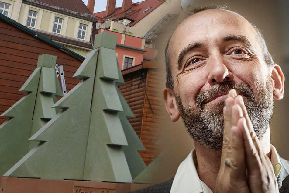 Ärger auf Bautzner Weihnachtsmarkt: Baum-Spende von umstrittenem Bau-Riesen