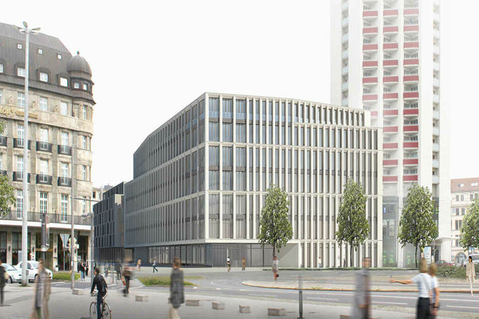 In der LWB-Zentrale am Wintergartenhochhaus werden derzeit mehrere Neubau-Vorhaben geplant.