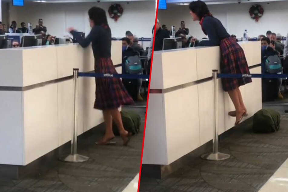 Passagierin flippt aus, weil sie nicht mitfliegen darf! Das ist der Grund