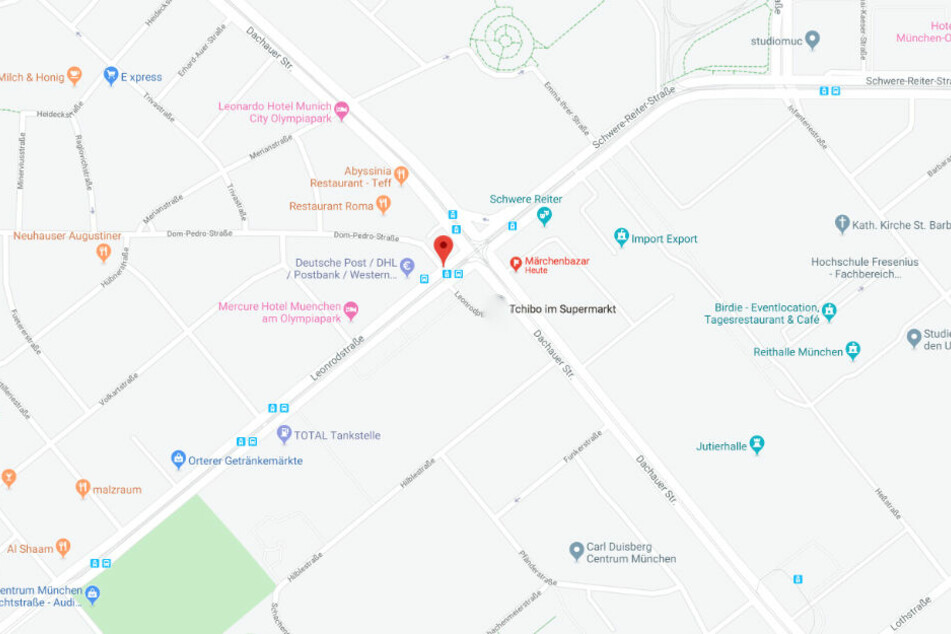Der Unfall ereignete sich an der Haltestelle Leonrodplatz.