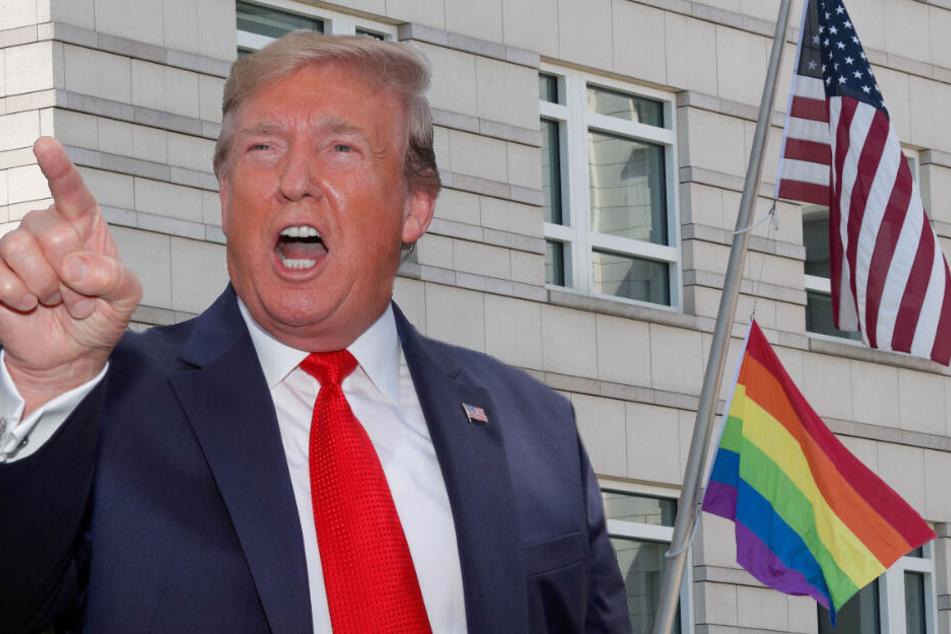 Trotz mutmaßlichem Verbot: Berliner US-Botschaft hisst Regenbogen-Fahne