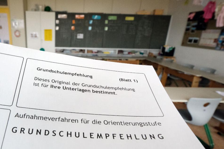 Ein Formular für die Grundschulempfehlung.