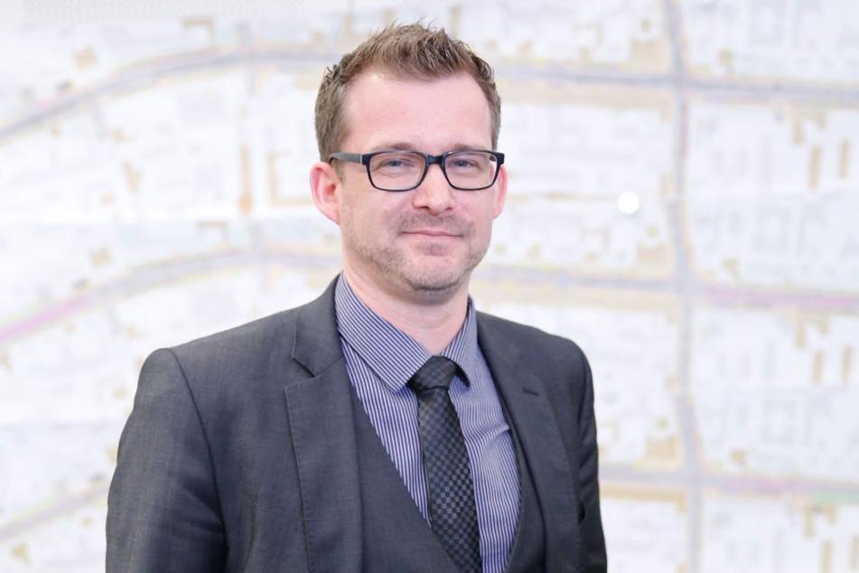 Dresdens Verkehrsbürgermeister Raoul Schmidt-Lamontain (40, Grüne)