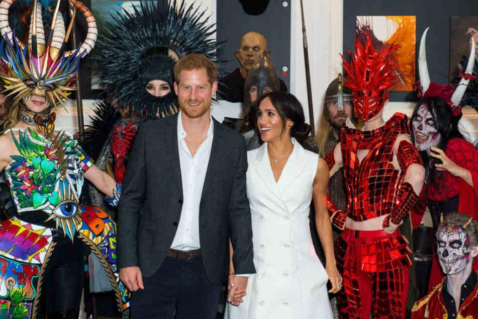 Bei ihrer ersten großen Auslandsreise als Ehepaar hatten Harry und Meghan viel Spaß.