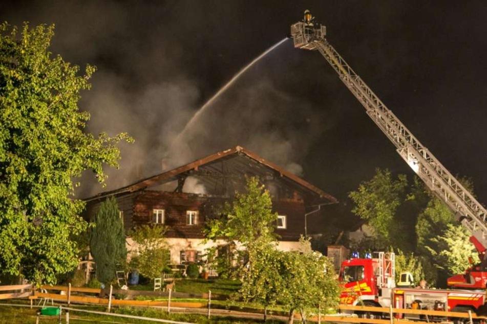 Das Bauernhaus wurde beim Brand komplett zerstört.