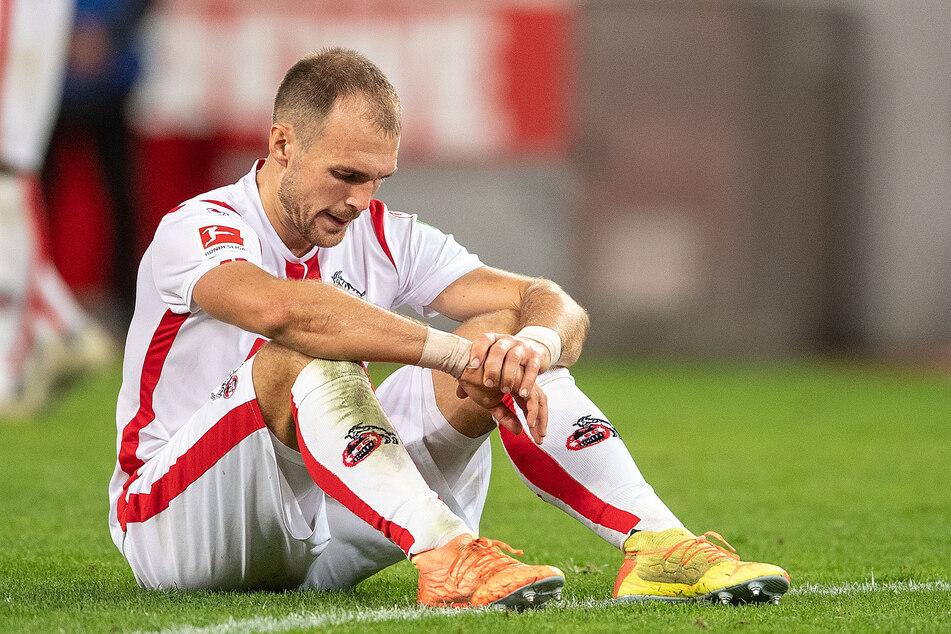 Rafael Czichos (30) fällt dem 1. FC Köln verletzungsbedingt vorerst aus. Der Verteidiger musste beim 2:1-Sieg gegen Dortmund vorzeitig ausgewechselt werden.