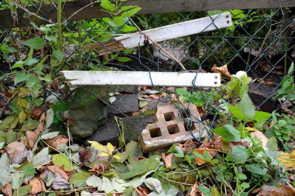 Dieses Loch im Zaun entdeckte die Familie erst kürzlich.