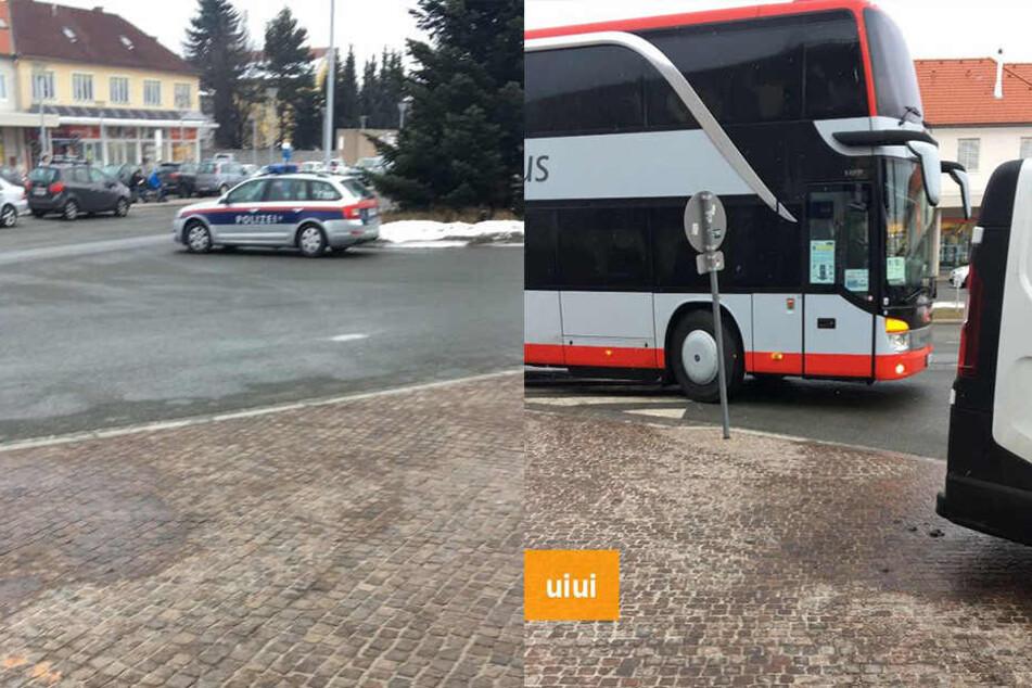 Ein interessierter User machte sich auf den Weg nach Wolfsberg und dokumentierte die Ankunft des Busses.