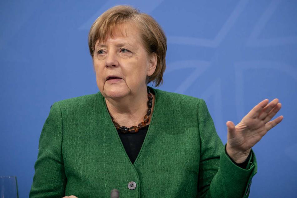 Bundeskanzlerin Angela Merkel (66, CDU), verkündet bei einer Pressekonferenz im Kanzleramt die geschlossenen Vereinbarungen nach den Beratungen von Bund und Ländern.