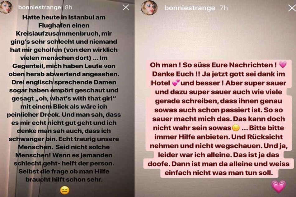 In ihrer Instagram-Story (löscht sich nach 24 Stunden) lässt das Model Dampf ab.