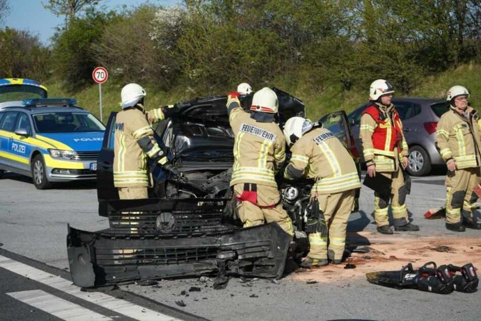 Die Chevrolet-Fahrerin wurde schwer verletzt.