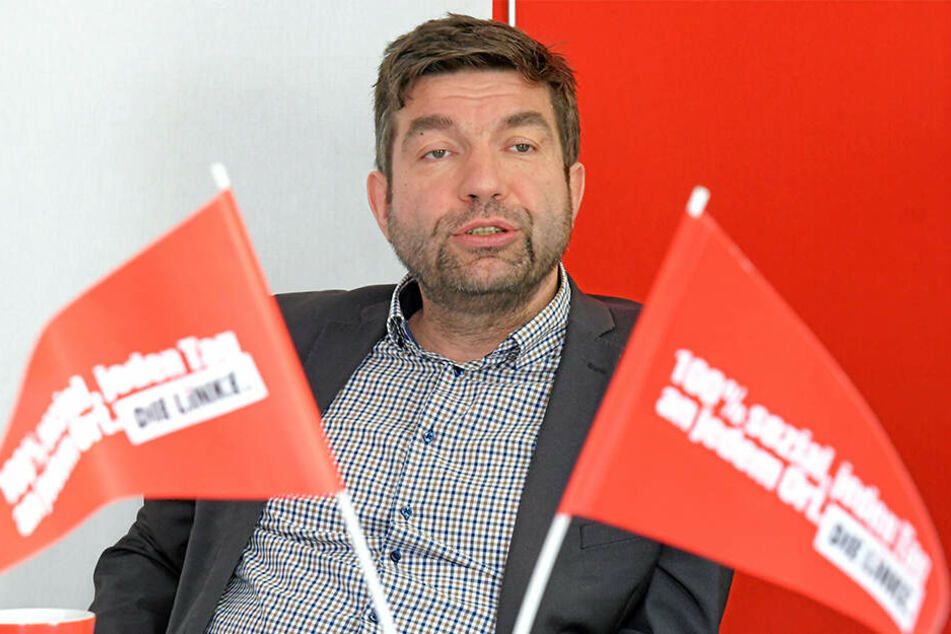 Linken-Chef Jens Matthis (52).