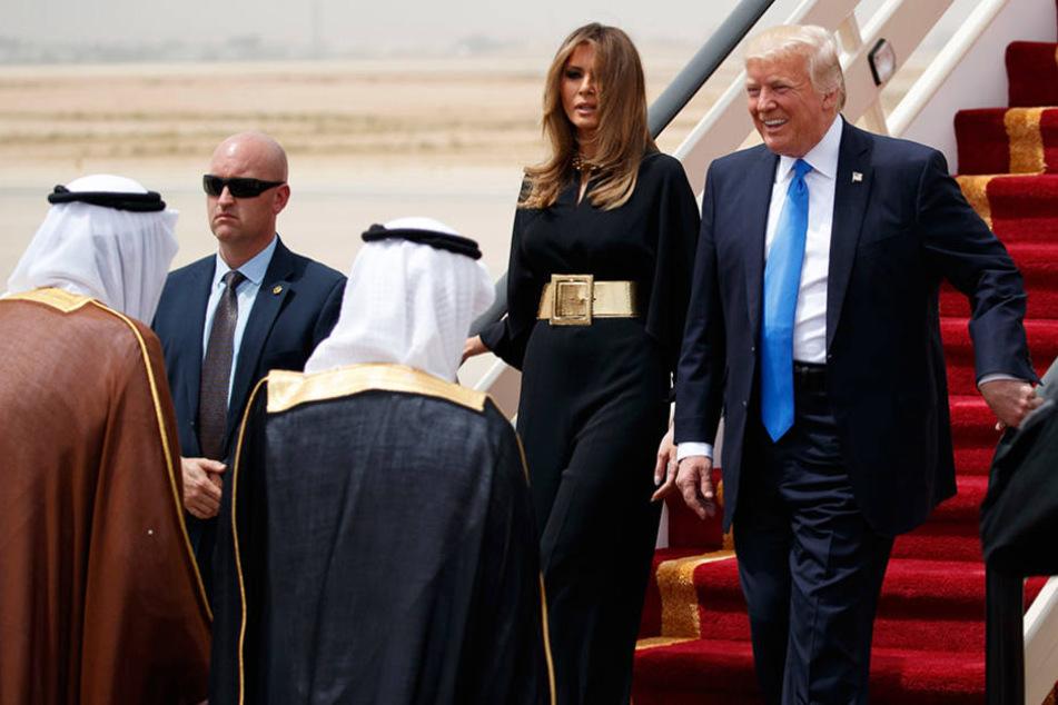 Donald Trump ist mit seiner Frau Melania zu einem Staatsbesuch in Saudi-Arabien.