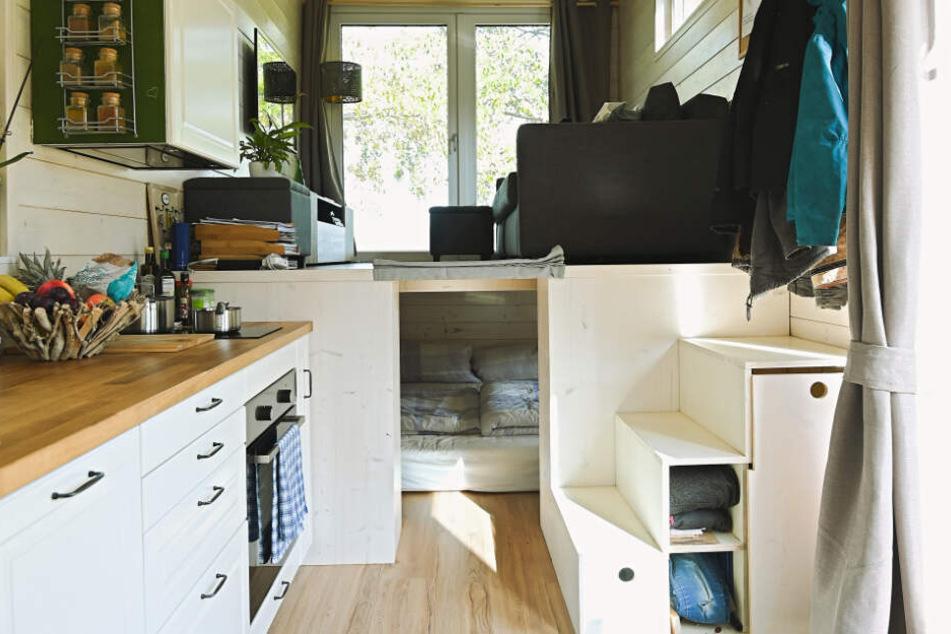 Blick in das Tiny House von Stefanie und Philipp im Tiny House Village.