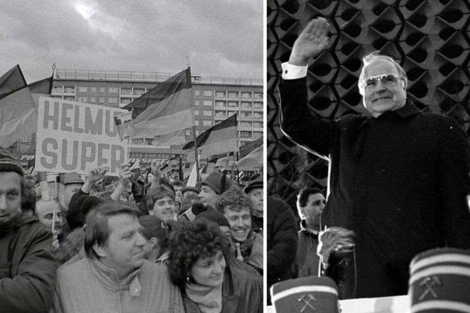 Chemnitz: Vor 30 Jahren wurde Helmut Kohl in Karl-Marx-Stadt gefeiert