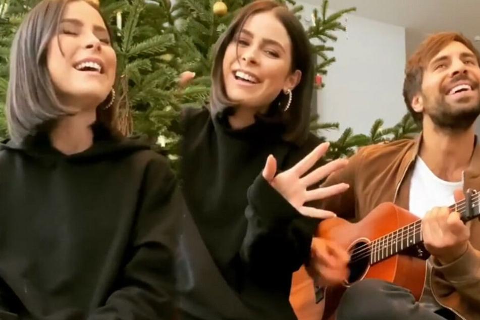 """Lena Meyer-Landrut (28) und Max Giesinger (31) performen für ihre Fans """"Last Christmas"""" von """"Wham!"""". (Fotomontage)"""