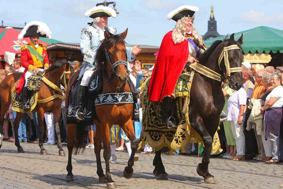 """Der """"Fürstenzug zu Dresden"""" gibt sich zur Eröffnung des Oktoberfestes in München die Ehre."""