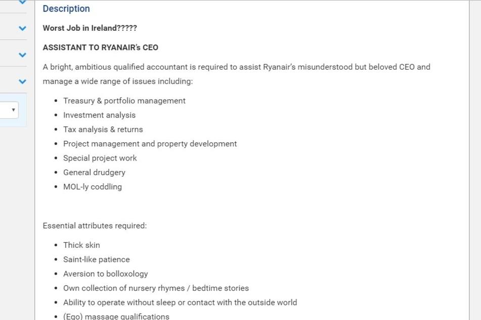 Das sind die Anforderungen für den Assistenten-Job.
