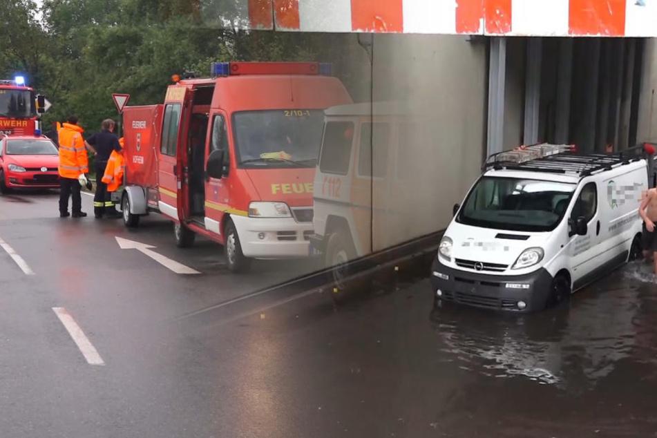 Unwetter mit sintflutartigem Starkregen: Ausnahmezustand in Südhessen