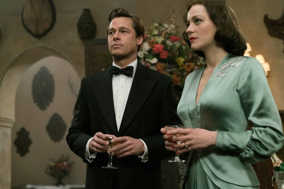 """Für den Film """"Allied"""" standen Pitt und Cotillard Anfang 2016 gemeinsam vor der Kamera."""