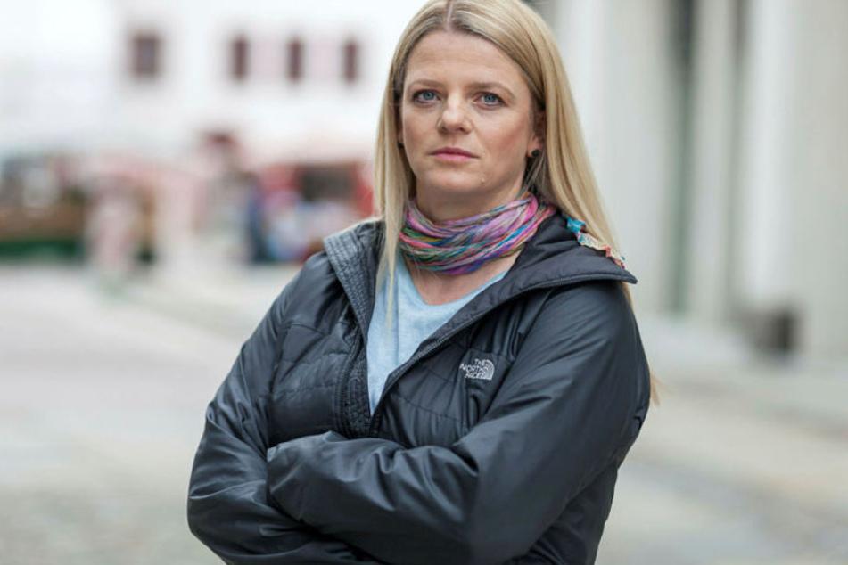 Susanne Schaper (39, Linke) steht zur Zwischenlösung mit Containern.