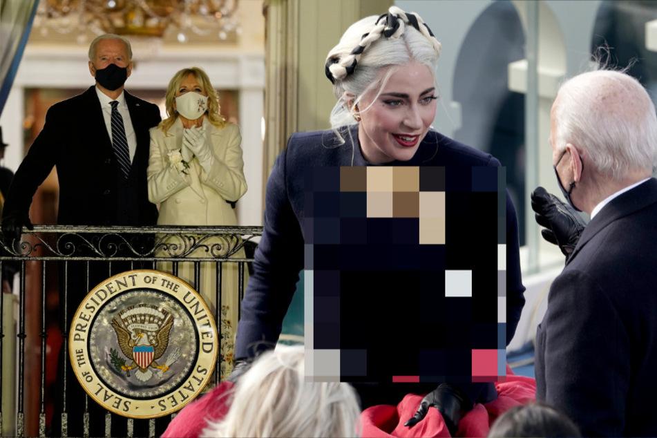 Lady Gaga singt bei Biden-Einführung: Dieses Symbol auf ihrem Kleid sorgt für Spekulationen!