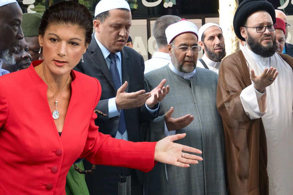 Sahra Wagenknecht will die Entsendung türkischer Imame nach Deutschland unterbinden.