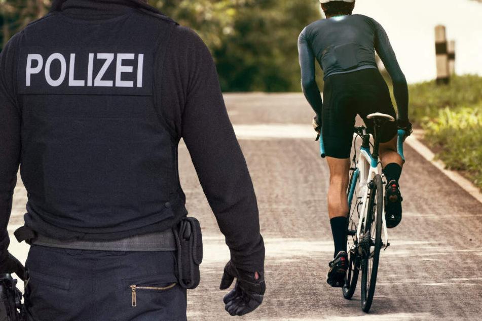Die Polizei fahndet nach einem unbekannten Fahrradfahrer (Symbolbild).