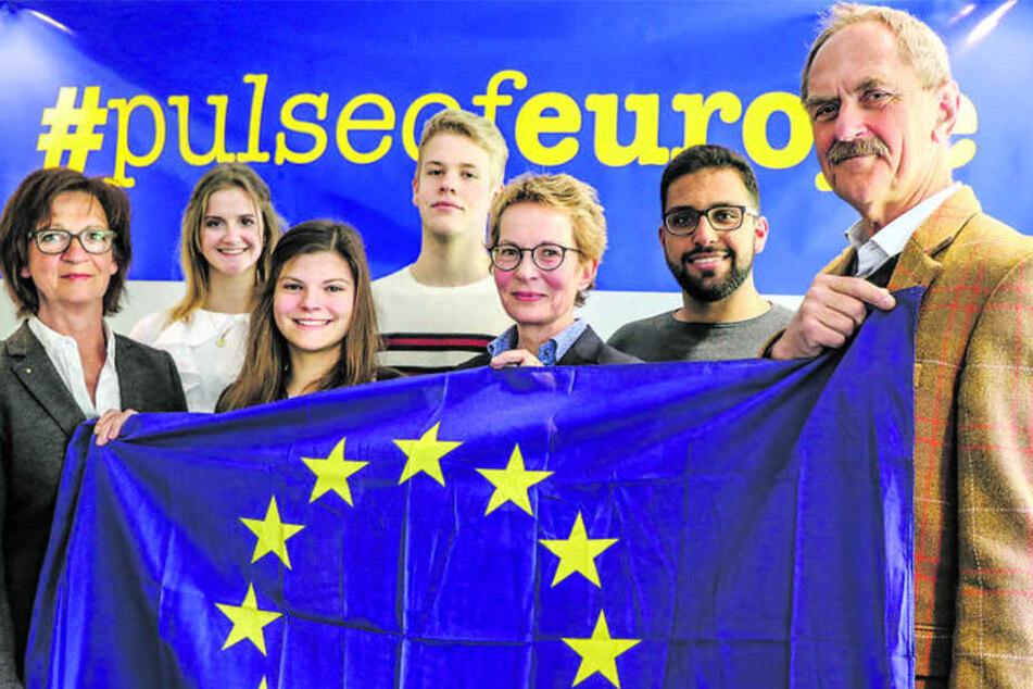 Gemeinsam will man am 23. April für ein vereintes Europa demonstrieren.