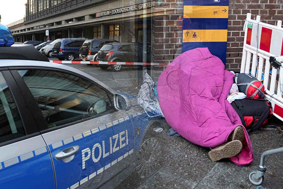 Sowohl das Opfer als auch die Angreifer sind nach Angaben der Polizei obdachlos. (Symbolbild)