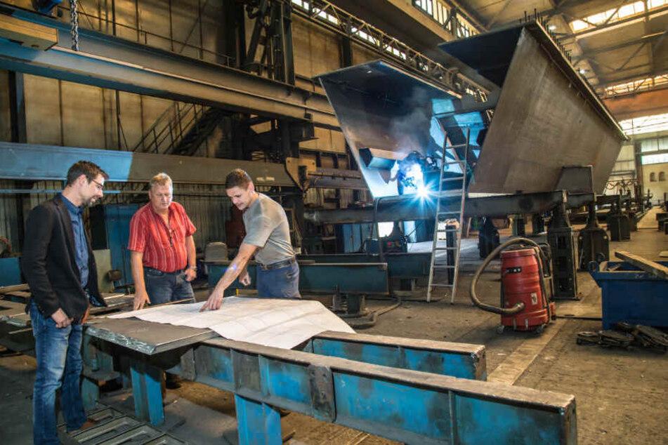 """Im """"Stahl- und Brückenbau Niesky"""" arbeiten hochspezialisierte Kräfte, die Firma hat einen exzellenten Ruf in der Branche. Trotzdem soll im Januar Schluss ein."""