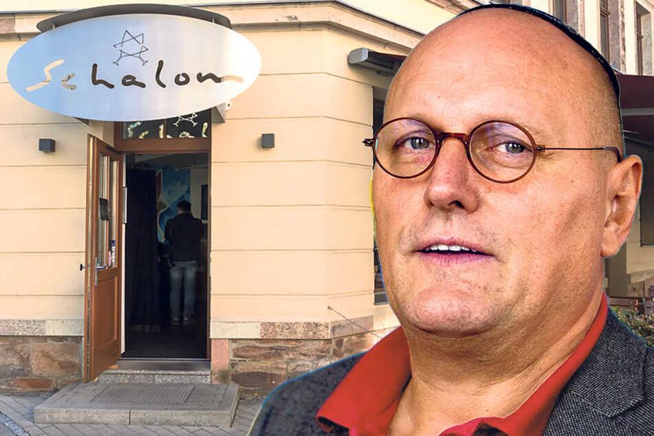"""Schon unzählige Male wurde das jüdische Restaurant """"Schalom"""" von Uwe Dziuballa (53) angegriffen."""