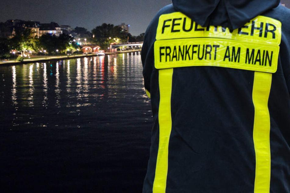 Die Feuerwehr in Frankfurt brachte den verunglückten Bootsführer an Land.