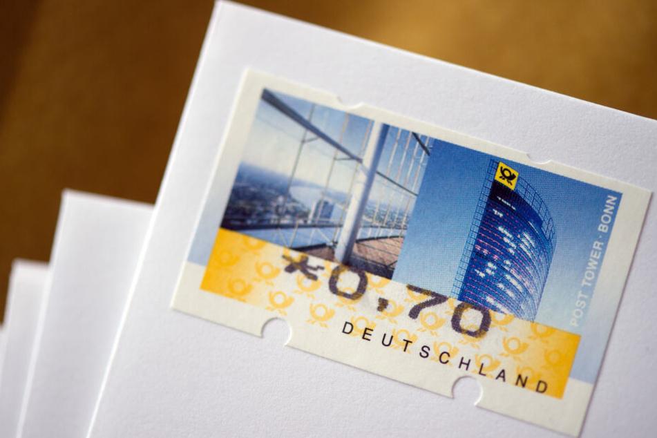 Eine Briefmarke im Wert von 70 Cent.