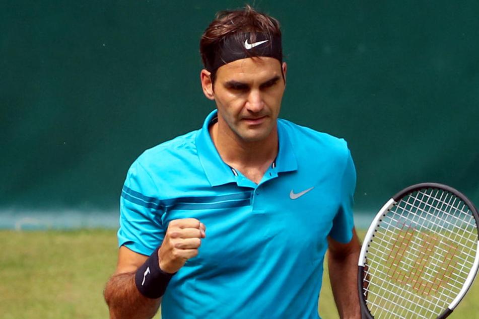 Mit Mühe ins Finale der Gerry Weber Open: Roger Federer will den Sieg