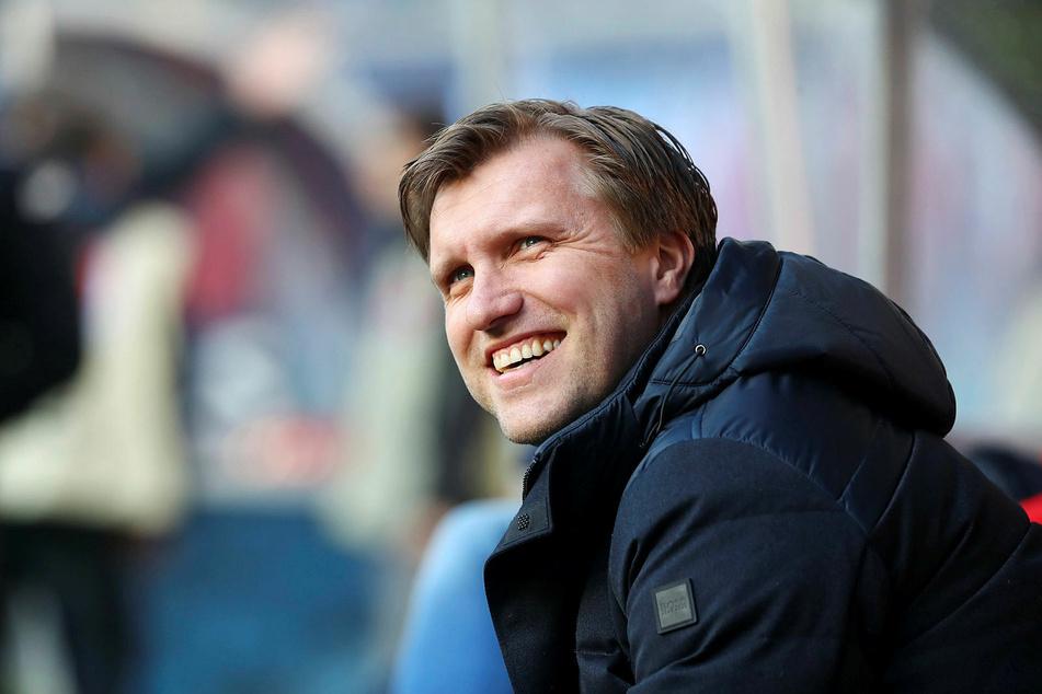 Ist felsenfest von der Champions-League-Quali überzeugt: RB-Sportdirektor Markus Krösche (39).